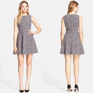 Theory Tillora Tweed Fit & Flare Dress